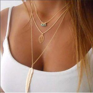 Jewelry - 3- Tiered Boho Necklace • NWT
